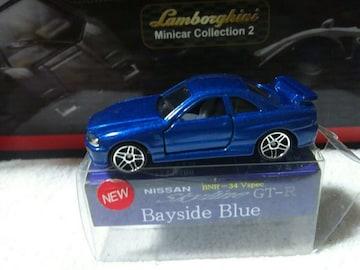 RRR特注 スカイラインR34 ベイサイドブルー PR5ホイール