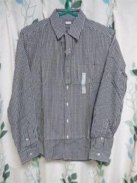 ギンガムチェックシャツ ブラック Sサイズ gu ジーユー 新品