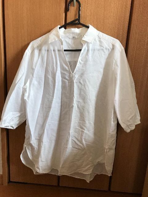 ユニクロ 白 シャツ M