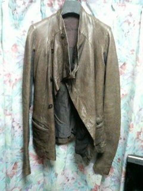 リックオウエンスrickowensレザージャケットコート40 < 女性ファッションの