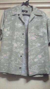 京都 壬生堂 着物リメイクアロハシャツ