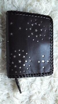 ハンドメイド本牛革…小銭・カード財布(黒)