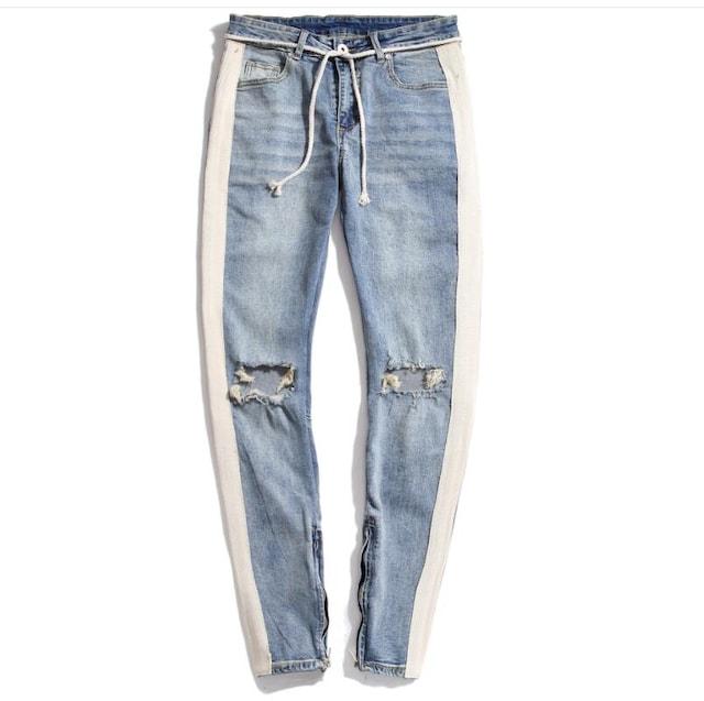 メンズ ジーンズ デニムパンツ  ユーズド テーパード/WAK48 < 男性ファッションの