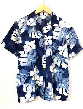 HAWAIIAN RESERVE■アロハシャツ■70'sVINTAGE■ハワイ製■紺