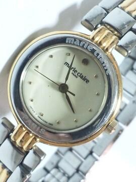 11830/marleclaireマリクレール高級コンビ仕様レディース腕時計格安出品
