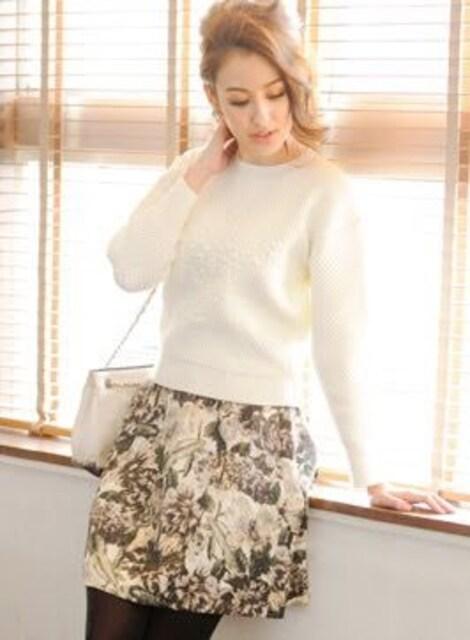美品chesty Jacquard Print Skirt < ブランドの