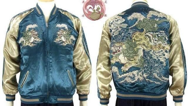 花旅楽団/唐獅子牡丹/スカジャン/ssj-026/サトリ < 男性ファッションの