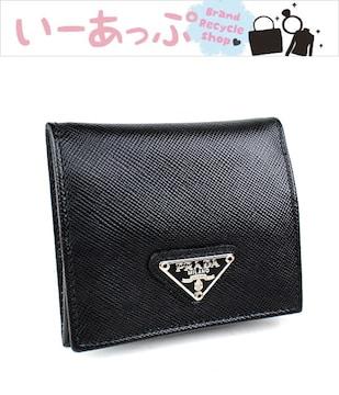 プラダ コインケース 小銭入れ 黒 PRADA 極美品 サフィアノ k618