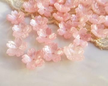 桜ビーズ20個(セルロース)