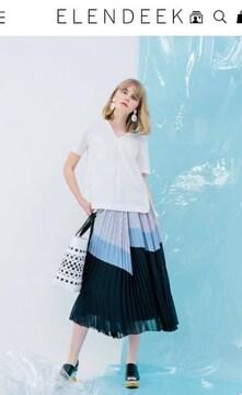 大人気完売☆エレンディーク2018SSプリーツロングスカート