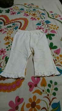 キッズ☆KP/ニットプランナー☆白 フリル パンツ・ズボン 70�a