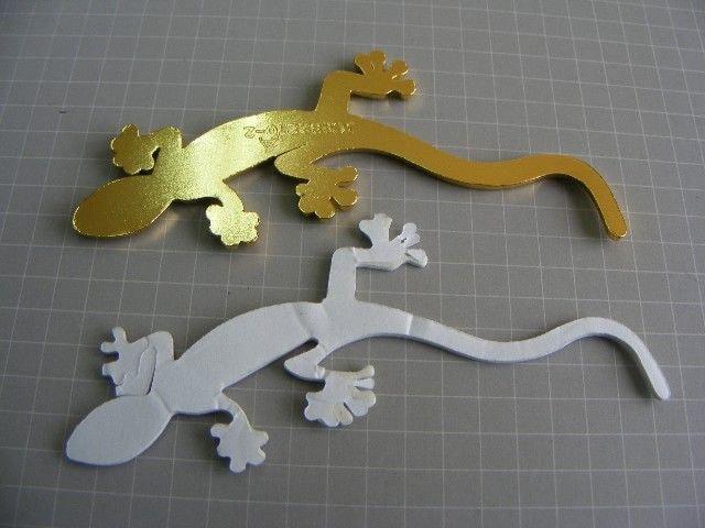 ● Gecko ゲッコーヤモリ!GOLD メタル製 エンブレムSサイズ ● < 自動車/バイク