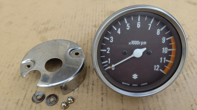 GS400 タコメーター&ロアカバー良品GT380CBX400Z400FXスピードメーター エンジン < 自動車/バイク