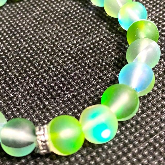 【特A品】オーロラ ムーンストーン 数珠 ブレスレット 新品
