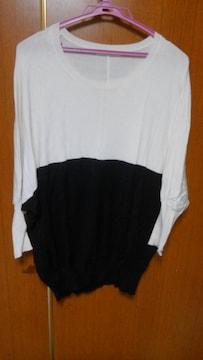 �A白と黒のセーター