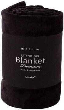 毛布 プレミアムマイクロファイバー シングル ブラック