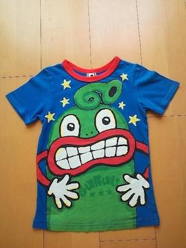 中古ぐるりTシャツ120ブルーpartyparty