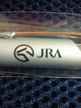 競馬 JRA オリジナル 手元が光る LED ライト ボールペン シンプル シルバー
