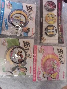 Joshin〜オリジナル阪神タイガースカンバッジ〜4種セットA