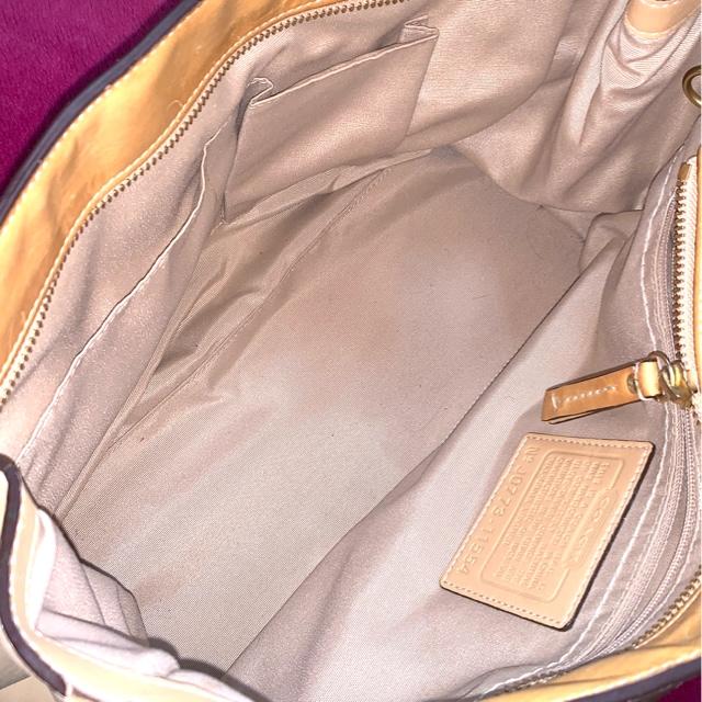 正規品COACHレザー☆スカーフ付トートバッグ♪