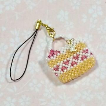 【handmade】まるでケーキの様なbag*ストラップ*苺ショートケーキ