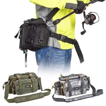 多機能 釣り袋 釣具タックル バッグ カモフラージュ