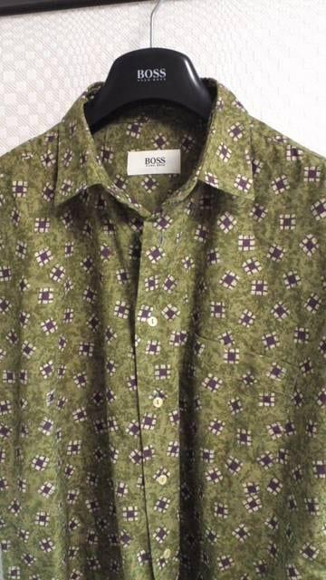 ヒューゴ・ボス半袖シャツ42 < ブランドの