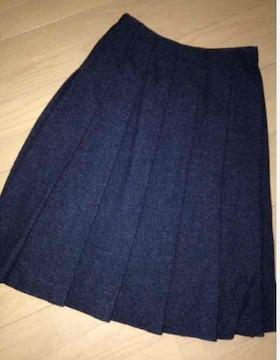 スカート ツィード プリーツ ミモレスカート☆M☆グレー☆