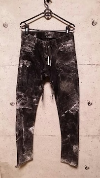 新品KMRIIケムリ Double Zip  Skinny Pants  2 BLACKWHITE