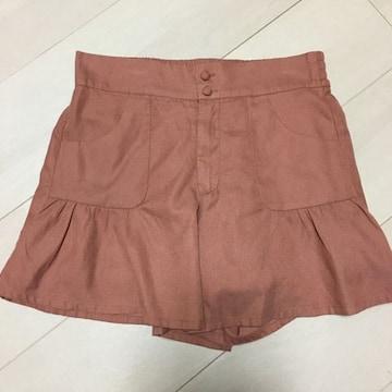 キュロットスカート フリーサイズ ブラウン