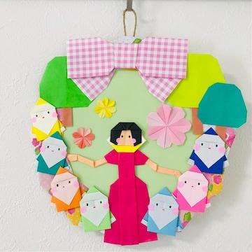 折り紙リース/白雪姫/ハンドメイド