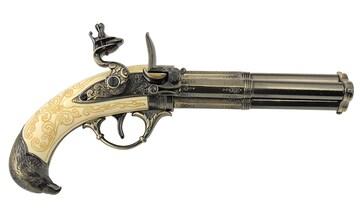 DENIX デニックス 5306 フリントロック 3バレル レプリカ 銃 モデルガン