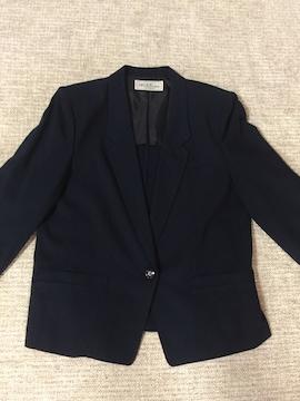616.長袖ジャケットひとつボタン☆紺/ネイビー☆サイズ13号