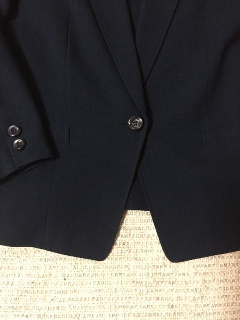 616.長袖ジャケットひとつボタン☆紺/ネイビー☆サイズ13号 < 女性ファッションの