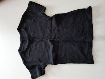 黒無地、半袖シャツ�@110