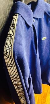 美品ラコステLACOSTEポロシャツ3ロゴLINEネイビー長袖T1212秋冬