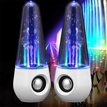 LEDライトスピーカー 音に合わせて踊る PCスピーカー