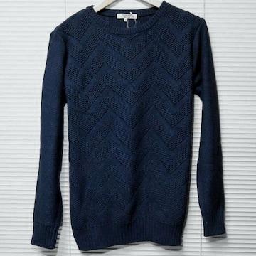 デニムルックジャガード織りコットンニット/IND/M