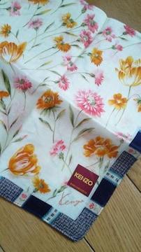 KENZOケンゾー新品ハンカチクリーム色に花柄