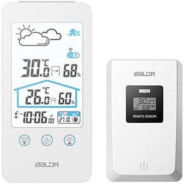 Bundle:BALDR 室内屋外 ワイヤレス デジタル 湿度計 温度計 天気