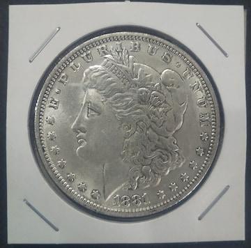 1881年アメリカモルガンダラ一レプリカ1枚