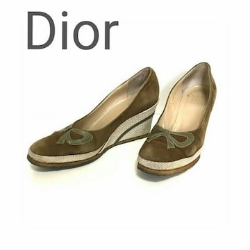 正規 Dior  ディオール スウェード レザー パンプス ブラウン