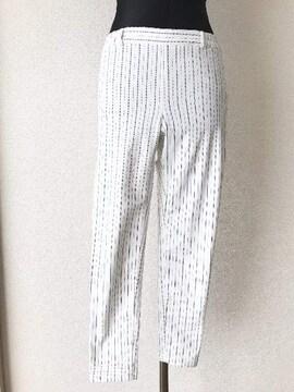 [GU]★ストライプ柄パンツ・ホワイトカラー・サイズ[S]★