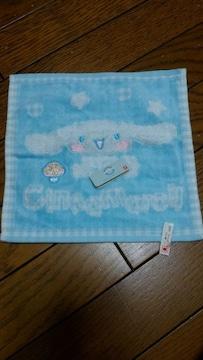 新品★「シナモンロール」キノコ刺繍付き★ふわふわハンカチ!