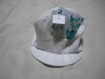 mb355 男 BILLABONG ビラボン つば付き ニット帽 ビーニー 白
