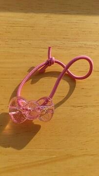 伊藤ハムノベルティ〓ハローキティ〓ヘアアクセサリー〓リボン〓薄いピンク