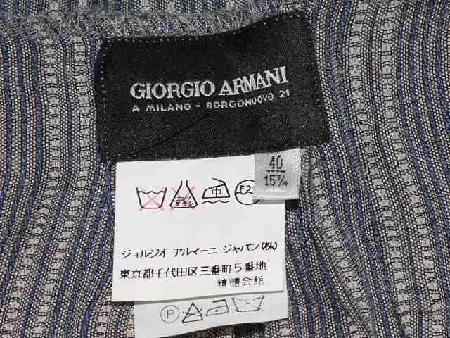 GIORGIO ARMANI アルマーニ ノースリーブシャツ ネイビー < ブランドの