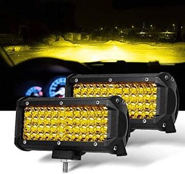 LED作業灯 イエロー 7インチ ワークライト SAMLIGHT フォグラン