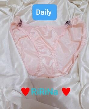 ф/タンス整理断捨離↓デイリー使いに可愛いピンクのサテンパンティ/ф