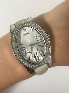 T113 フォリフォリ 腕時計 クォーツ ラインストーン 動作品